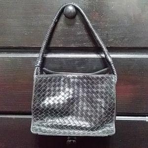Authentic Bottega Veneta Woven Leather Handbag